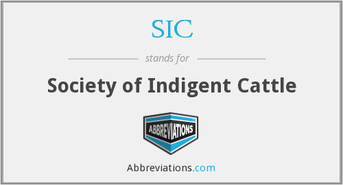 SIC - Society of Indigent Cattle