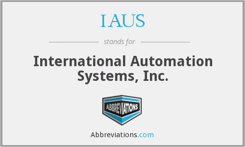 IAUS - International Automation Systems, Inc.
