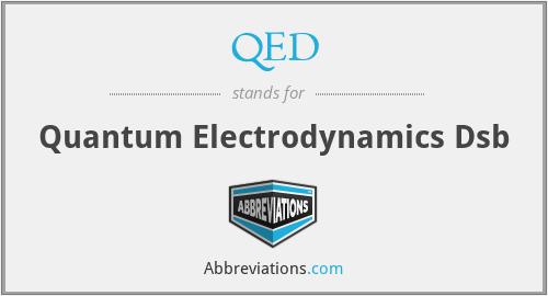 QED - Quantum Electrodynamics Dsb