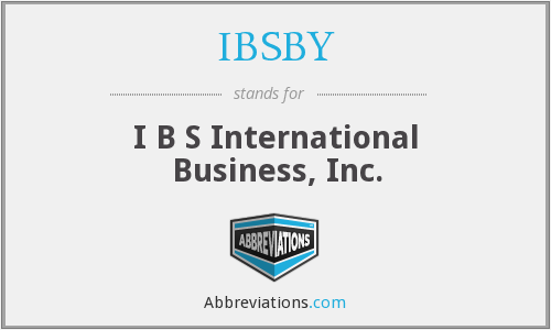 What does IBSBY stand for?
