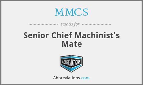 MMCS - Senior Chief Machinist's Mate