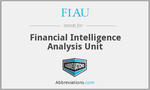 FIAU - Financial Intelligence Analysis Unit