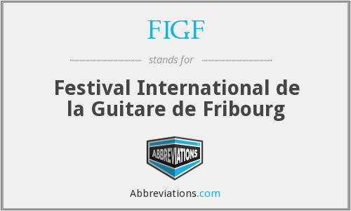 FIGF - Festival International de la Guitare de Fribourg