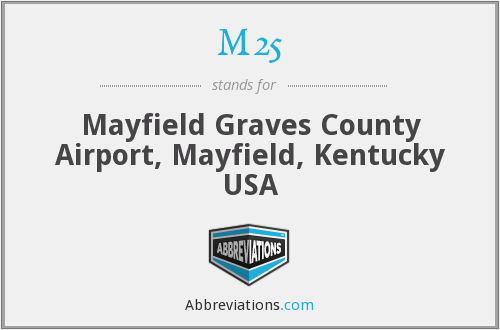 M25 - Mayfield Graves County Airport, Mayfield, Kentucky USA