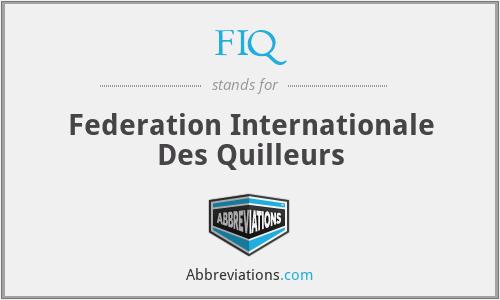 FIQ - Federation Internationale Des Quilleurs