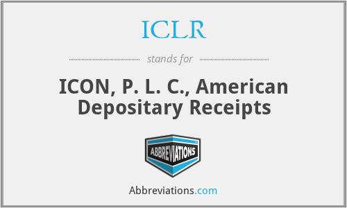 ICLR - ICON, P. L. C., American Depositary Receipts