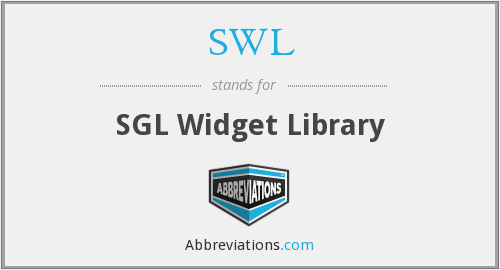 SWL - SGL Widget Library