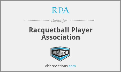 RPA - Racquetball Player Association