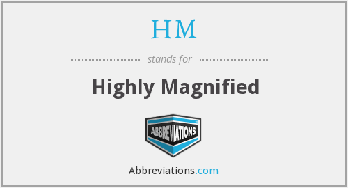What does magnified stand for?