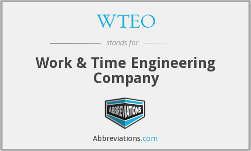 What does WTEO stand for?