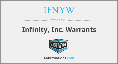 What does IFNYW stand for?