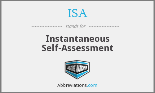 ISA - Instantaneous Self-Assessment