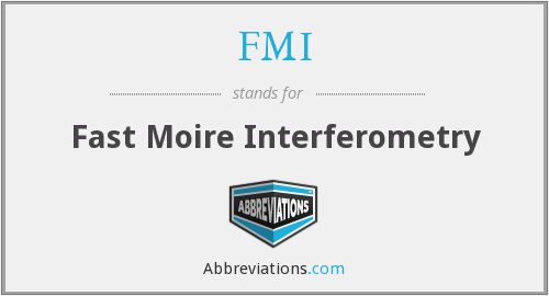 FMI - Fast Moire Interferometry