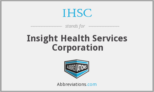 What does IHSC stand for?
