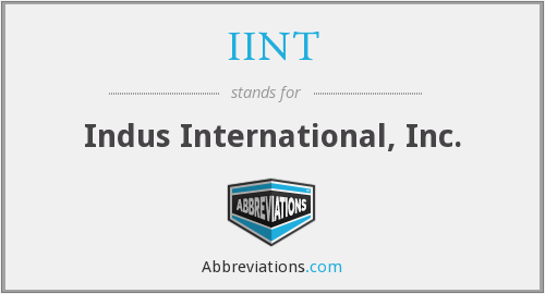 IINT - Indus International, Inc.