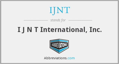 What does IJNT stand for?