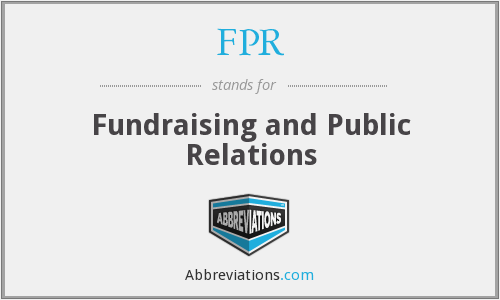 FPR - Fundraising and Public Relations