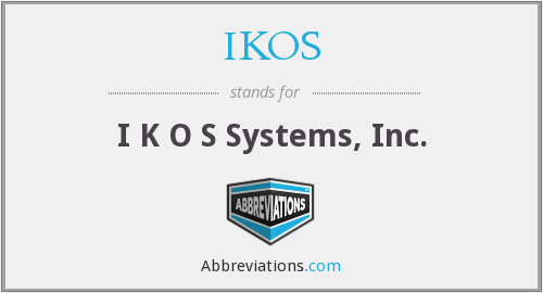 What does IKOS stand for?
