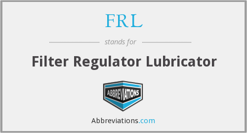 FRL - Filter Regulator Lubricator