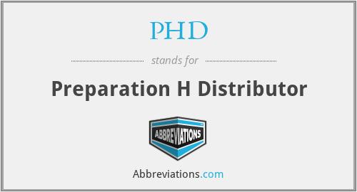 PHD - Preparation H Distributor