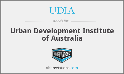 What does UDIA stand for?