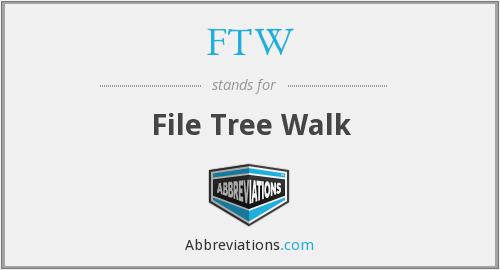 FTW - File Tree Walk