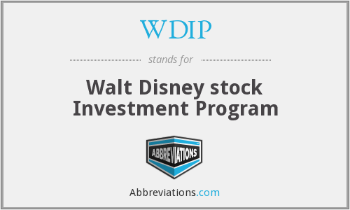WDIP - Walt Disney stock Investment Program
