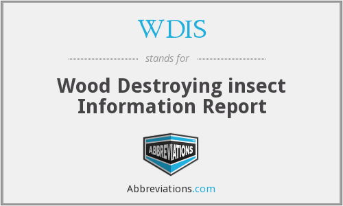 WDIS - Wood Destroying insect Information Report