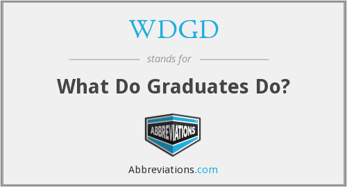 What does WDGD stand for?