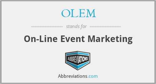 OLEM - On-Line Event Marketing
