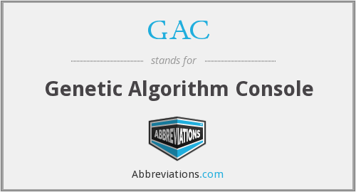 GAC - Genetic Algorithm Console