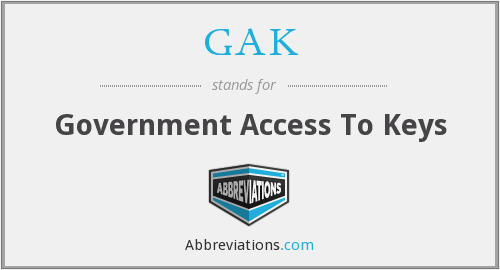 GAK - Government Access To Keys