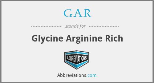 GAR - Glycine Arginine Rich