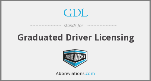 GDL - Graduated Driver Licensing