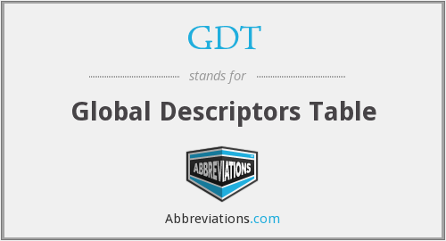 GDT - Global Descriptors Table