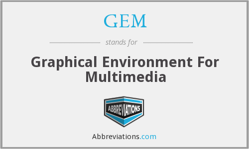 GEM - Graphical Environment For Multimedia