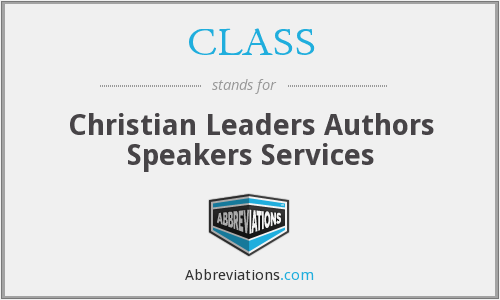 CLASS - Christian Leaders Authors Speakers Services