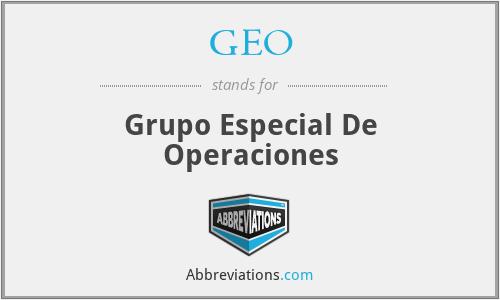 GEO - Grupo Especial De Operaciones