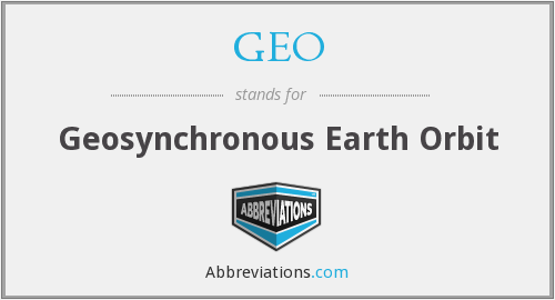 GEO - Geosynchronous Earth Orbit