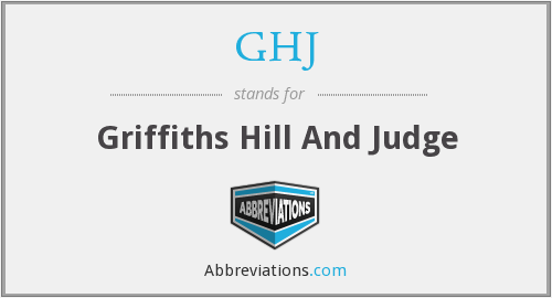 What does GHJ stand for?