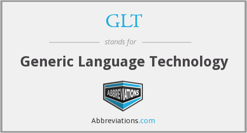 GLT - Generic Language Technology
