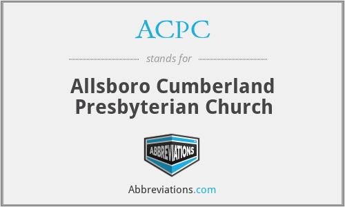 ACPC - Allsboro Cumberland Presbyterian Church
