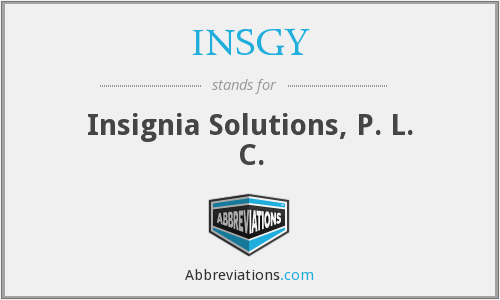 What does INSGY stand for?