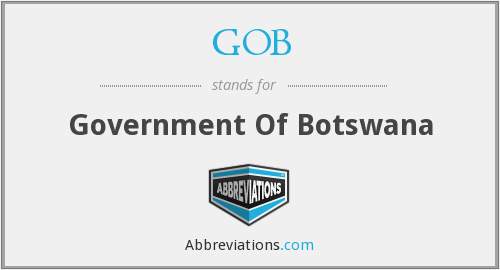 GOB - Government Of Botswana
