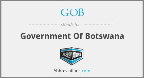 GOB - Government Of Botswana