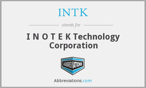 What does INTK stand for?