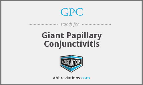 GPC - Giant Papillary Conjunctivitis