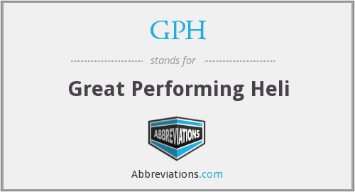 GPH - Great Performing Heli