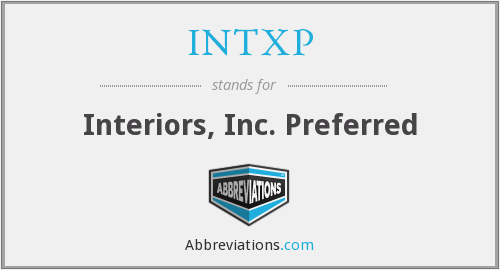 What does INTXP stand for?