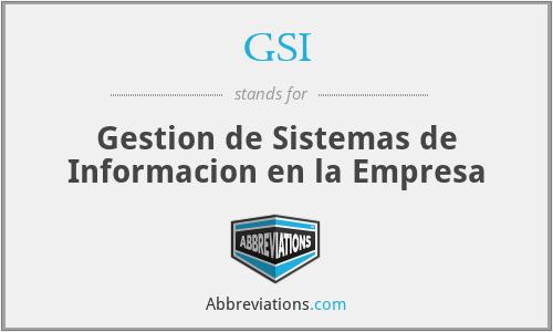 GSI - Gestion de Sistemas de Informacion en la Empresa
